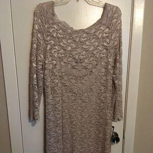 Gold Lace NWT Dress size 12